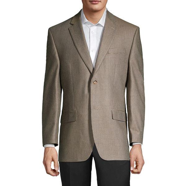 ラルフローレン メンズ ジャケット&ブルゾン アウター Grid Silk & Wool-Blend Sportcoat Tan Brown