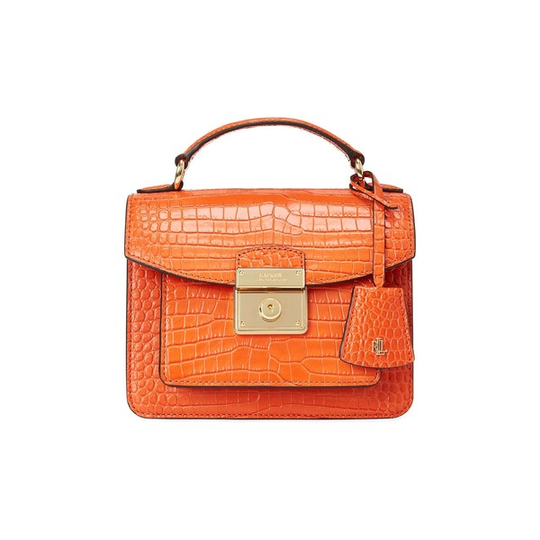 ラルフローレン レディース ハンドバッグ バッグ Mini Beckett Leather Satchel Orange