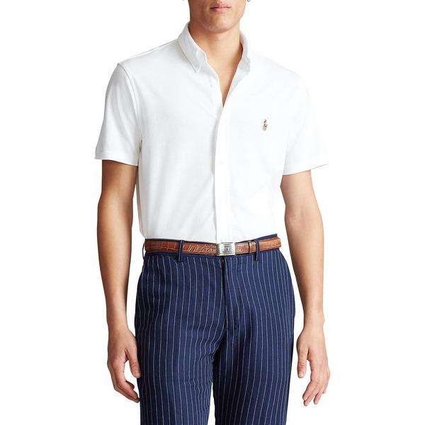 ラルフローレン メンズ シャツ トップス Cotton Piqué Oxford Shirt White