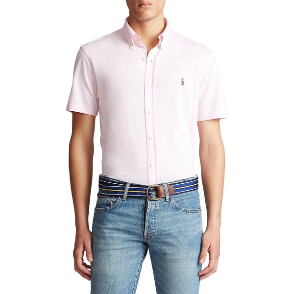 ラルフローレン メンズ シャツ トップス Cotton Piqué Oxford Shirt Pale Pink