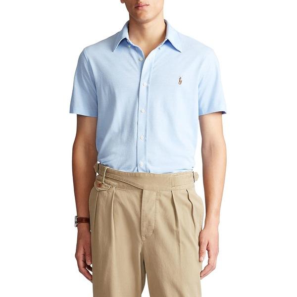 ラルフローレン メンズ シャツ トップス Cotton Piqué Oxford Shirt Bay Blue
