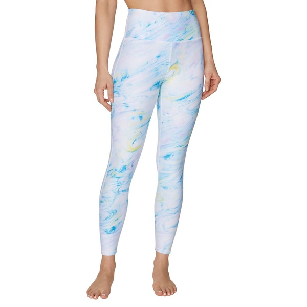 ベッツィジョンソン レディース カジュアルパンツ ボトムス Liquid Swirl-Print High-Rise Leggings White Blue
