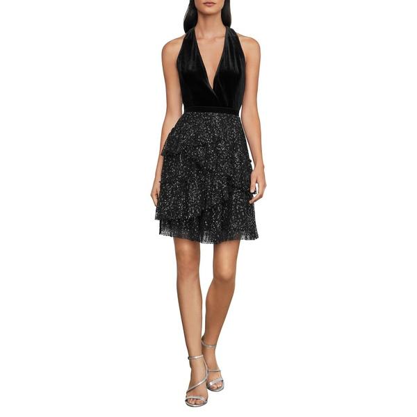 ビーシービージーマックスアズリア レディース ワンピース トップス Sleeveless Mini Dress Black