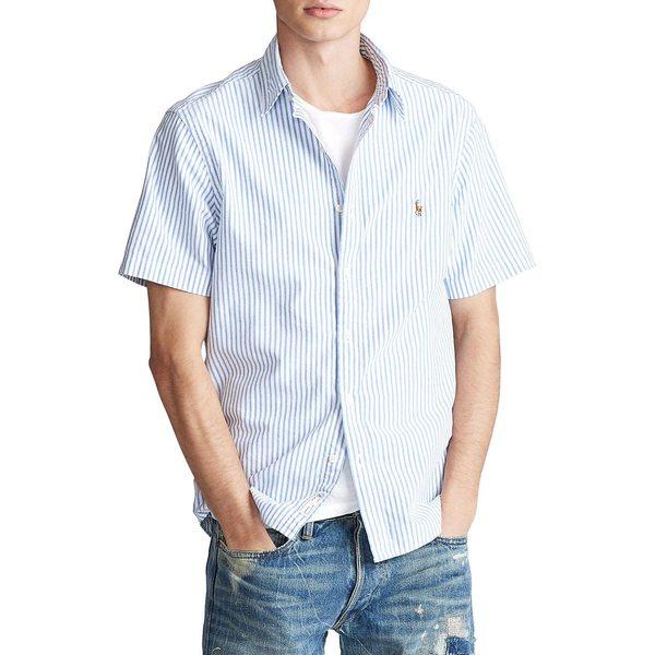 ラルフローレン メンズ シャツ トップス Classic-Fit Striped Oxford Shirt Blue White