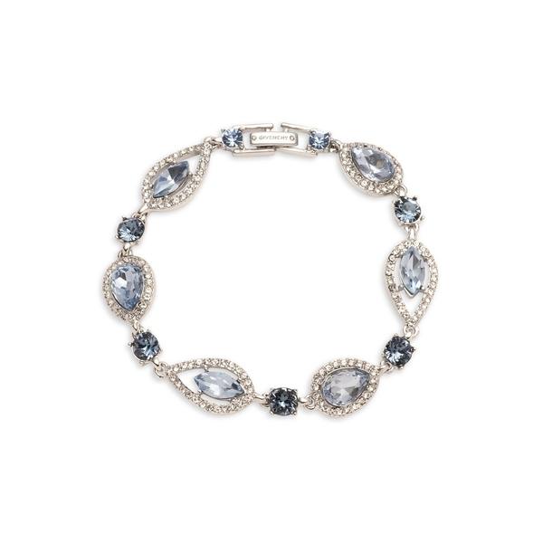 ジバンシー レディース ブレスレット・バングル・アンクレット アクセサリー Rhodium-Plated & Crystal Bracelet Silver