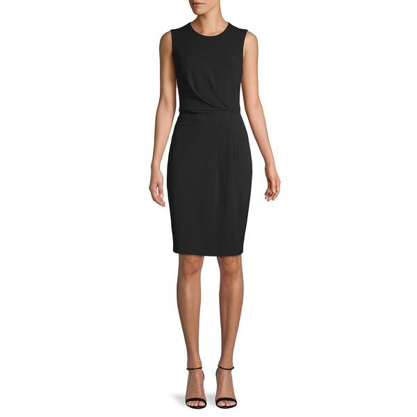 カルバンクライン レディース ワンピース トップス Sleeveless Sheath Dress Black