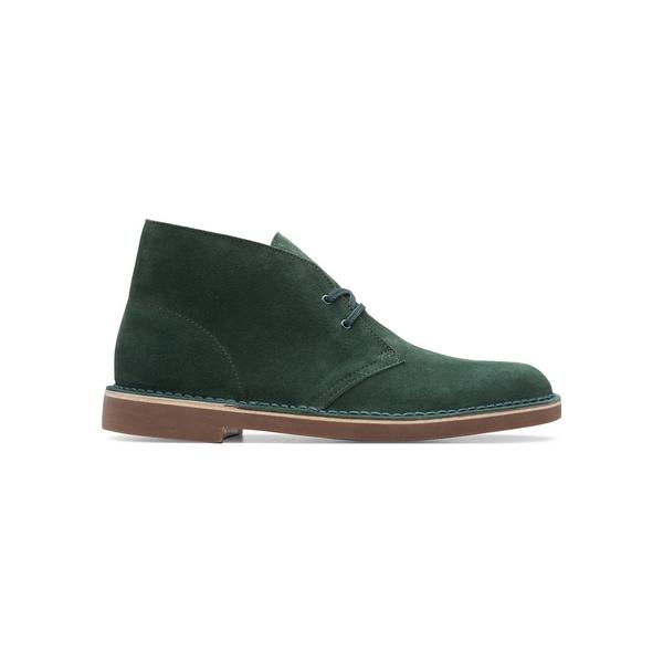 クラークス メンズ ブーツ&レインブーツ シューズ Bushacre Desert Boots Dark Green