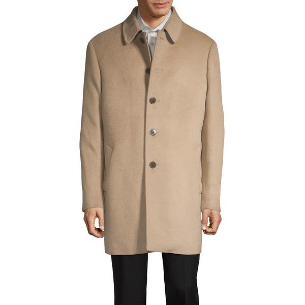 ラルフローレン メンズ ジャケット&ブルゾン アウター Lad Wool-Blend Down Overcoat Camel
