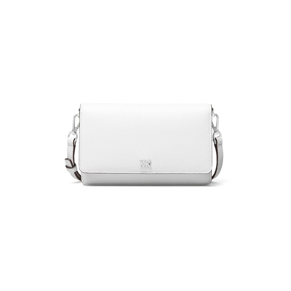 マイケルコース レディース ハンドバッグ バッグ Pebbled Leather Phone Crossbody Bag Optic White