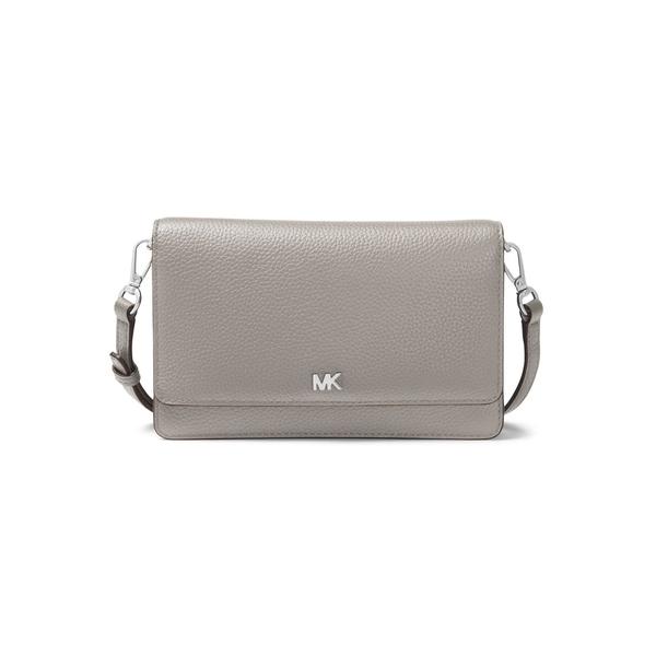 マイケルコース レディース ハンドバッグ バッグ Pebbled Leather Phone Crossbody Bag Pearl Grey