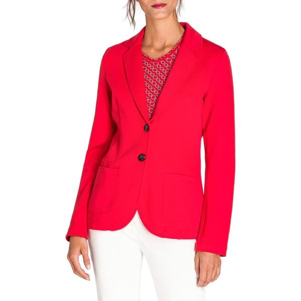 オルセン レディース コート アウター New Fusion Cotton-Blend Jersey Blazer Spicy Red
