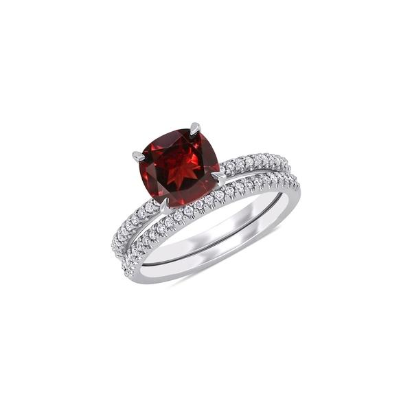 ソナティナ レディース リング アクセサリー 2-Piece 14K White Gold & Multi-Stone Bridal Ring Set Garnet