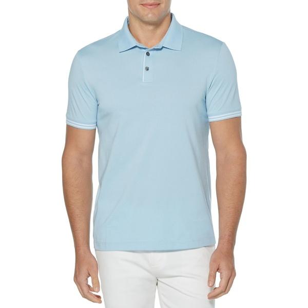 ペリーエリス メンズ シャツ トップス Icon Polo Shirt Cerulean