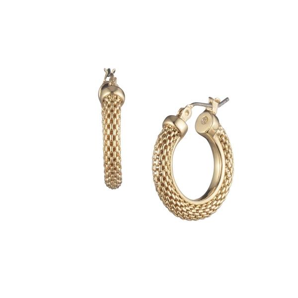ラルフローレン レディース ピアス&イヤリング アクセサリー Goldtone Medium Mesh Hoop Earrings Gold