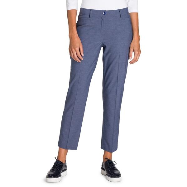 オルセン レディース カジュアルパンツ ボトムス Utility Chic Cropped Flat Front Pants Blue