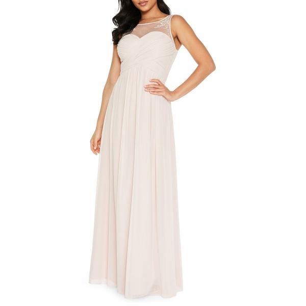クイズ レディース ワンピース トップス Sleeveless Embellished Gown Pink