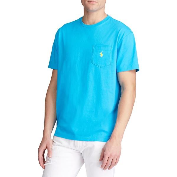 ラルフローレン メンズ シャツ トップス Classic Fit Pocket Tee Blue