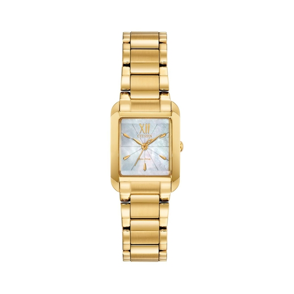 シチズン レディース 腕時計 アクセサリー Bianca Goldtone Stainless Steel & Mother-Of-Pearl Bracelet Watch Gold
