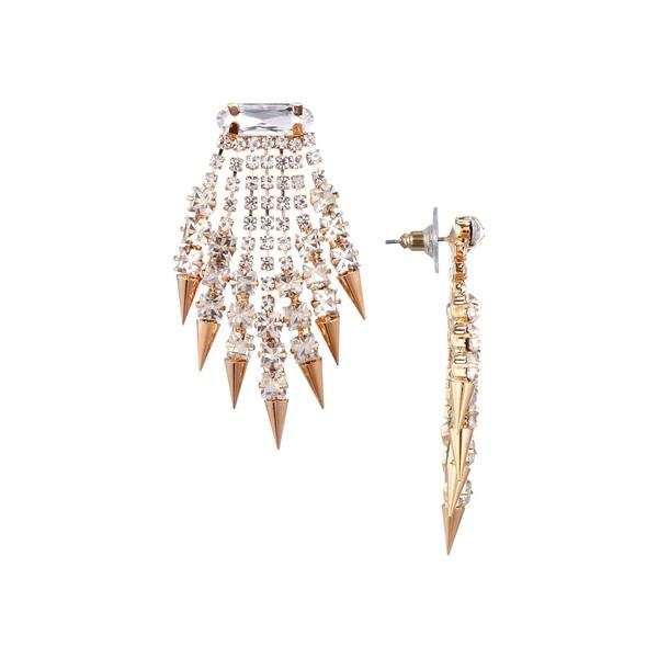 ニナ レディース ピアス&イヤリング アクセサリー Octavia Crystal Fringe Spike Drop Earrings Gold