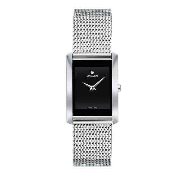 モバド レディース 腕時計 アクセサリー La Nouvelle Rectangular Mesh Bracelet Watch Silver