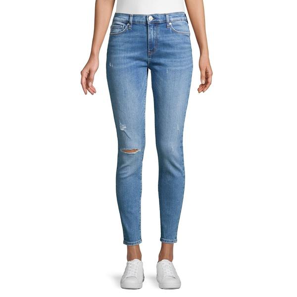 ハドソンジーンズ レディース デニムパンツ ボトムス Nico Mid-Rise Distressed Skinny Jeans Remixing