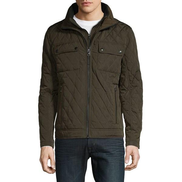 カルバンクライン メンズ ジャケット&ブルゾン アウター Quilted Zip-Up Jacket Moss