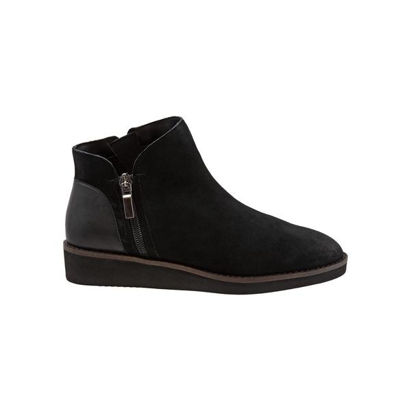 ソフトウォーク レディース パンプス シューズ Wesley Leather Ankle Boots Black Suede