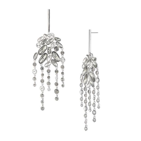 ジバンシー レディース ピアス&イヤリング アクセサリー Rhodium-Plated and Crystal Chandelier Earrings Silver