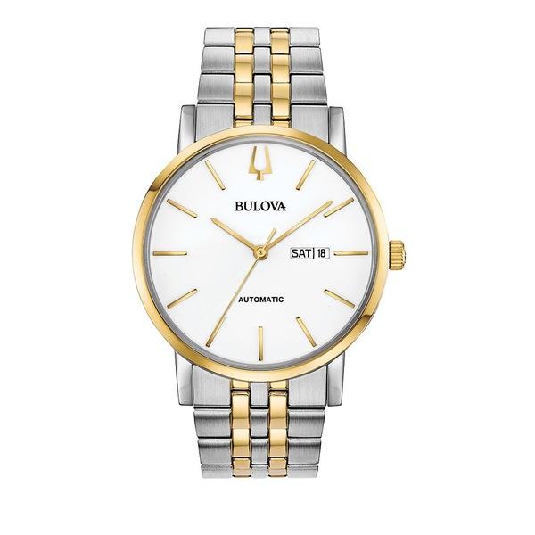 ブロバ レディース 腕時計 アクセサリー Classics Clipper Automatic Bracelet Watch Two Tone