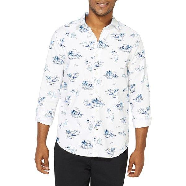 ナウティカ メンズ シャツ トップス Classic-Fit Oxford Printed Shirt Bright White