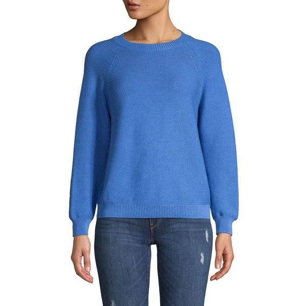 マックマーラ レディース ニット&セーター アウター Textured Cotton Sweater Cornflower