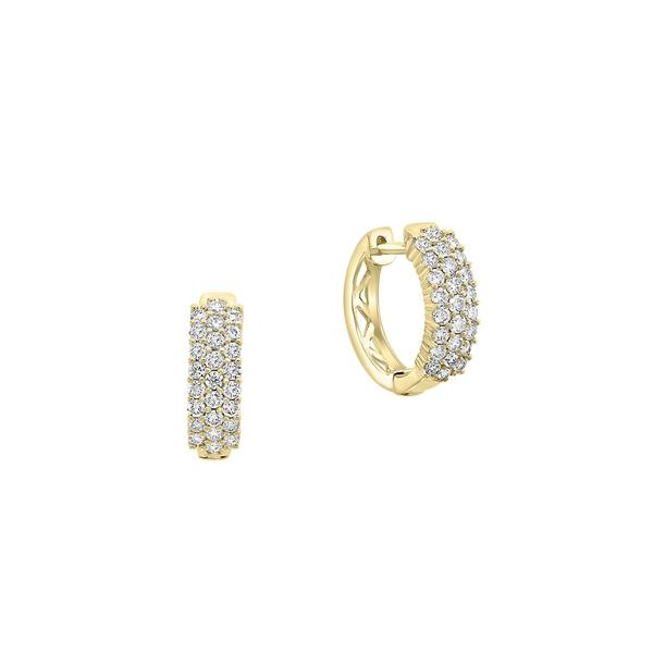 エフィー レディース ピアス&イヤリング アクセサリー D'Oro 14K Yellow Gold & 0.95 TCW Diamond Earrings Gold