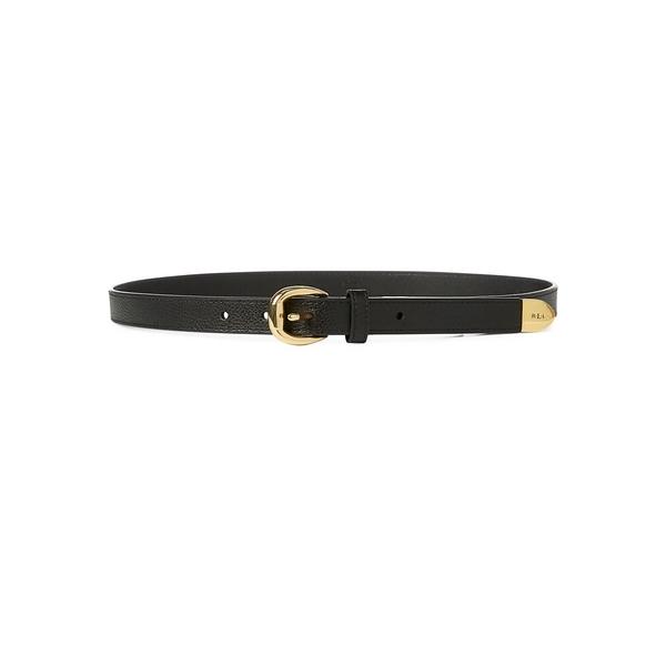 ラルフローレン レディース ベルト アクセサリー Bennington II Leather Belt Black