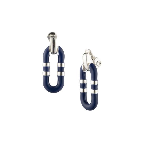 ラルフローレン レディース ピアス&イヤリング アクセサリー Silvertone Drop Earrings Blue