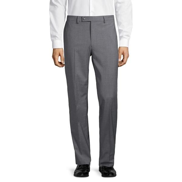 ラルフローレン メンズ カジュアルパンツ ボトムス Flat-Front Wool-Blend Dress Pants Dark Grey