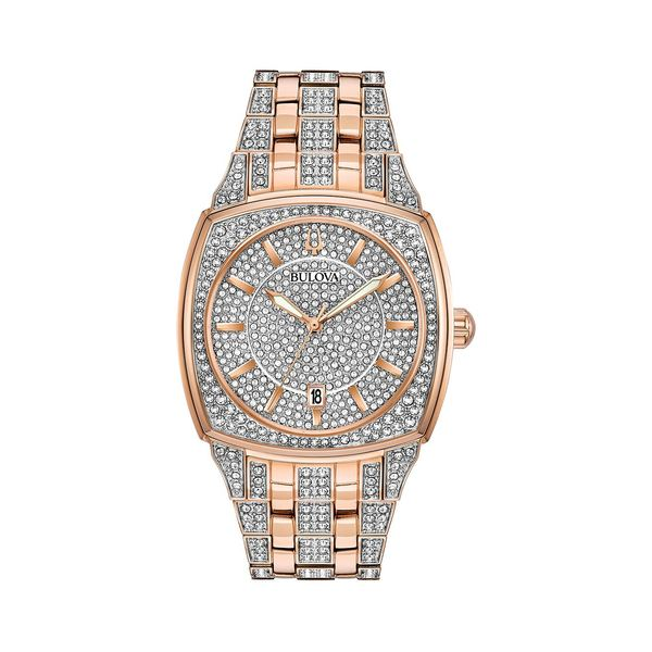 ブロバ レディース 腕時計 アクセサリー Rose Goldtone and Swarovski Crystal Embellished Watch Rose Gold