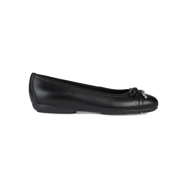ジェオックス レディース サンダル シューズ Leather Ballet Flats Black