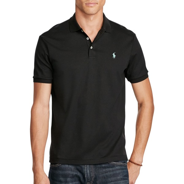 ラルフローレン メンズ シャツ トップス Classic-Fit Soft Cotton Polo Polo Black