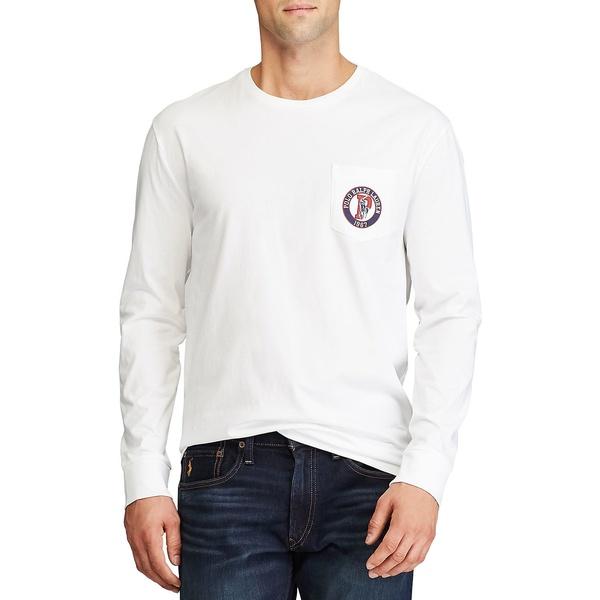 ラルフローレン メンズ シャツ トップス Classic Fit Logo Long-Sleeve T-Shirt White