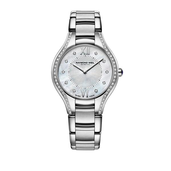 レイモンドウェイル レディース 腕時計 アクセサリー Silvertone Diamond Watch Silver