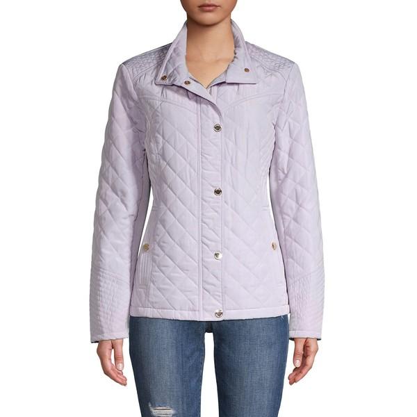 マイケルコース レディース コート アウター Quilted Stand Collar Jacket Lavender
