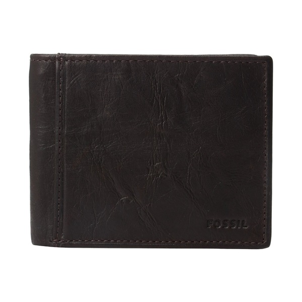 フォッシル メンズ 財布 アクセサリー Ingram RFID Bifold w/ Flip ID Brown