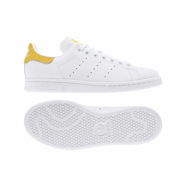 アディダスオリジナルス レディース スニーカー シューズ Stan Smith Footwear White/Footwear White/Core Yellow
