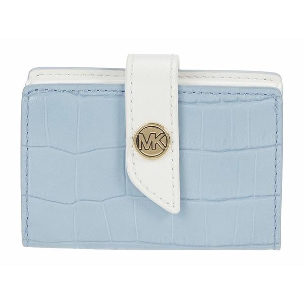 マイケルコース レディース 財布 アクセサリー MK Charm Small Tab Card Case Pale Blue Multi