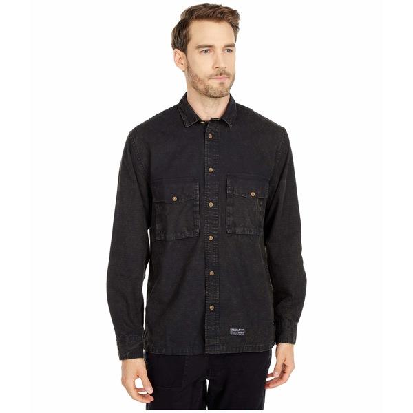 パブリッシュ メンズ シャツ トップス Gray Button-Up Black