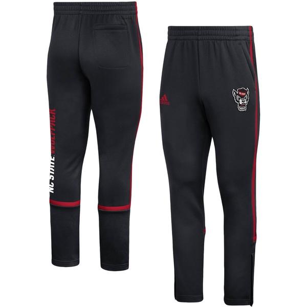 アディダス メンズ カジュアルパンツ ボトムス NC State Wolfpack adidas Under the Lights Sideline AEROREADY Pants Black