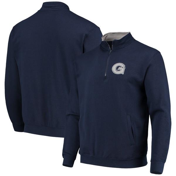 コロシアム メンズ ジャケット&ブルゾン アウター Georgetown Hoyas Colosseum Tortugas Logo QuarterZip Jacket Navy