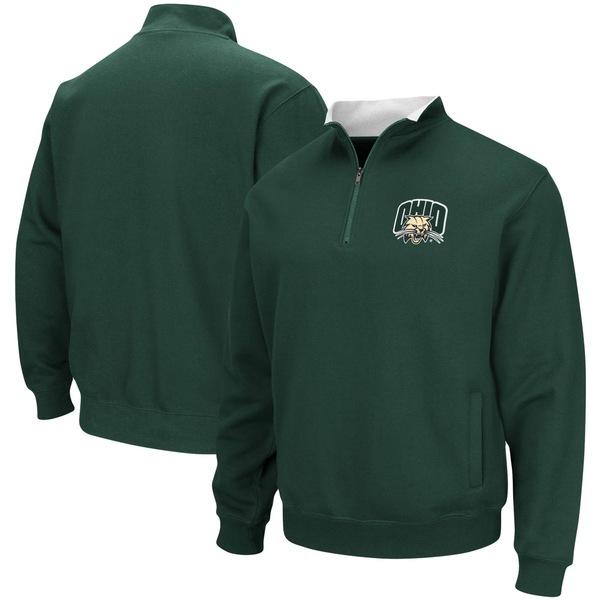 コロシアム メンズ ジャケット&ブルゾン アウター Ohio Bobcats Colosseum Tortugas Logo QuarterZip Pullover Jacket Charcoal