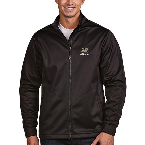 アンティグア メンズ ジャケット&ブルゾン アウター Aric Almirola Antigua Golf FullZip Jacket Black