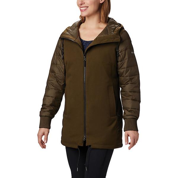 コロンビア レディース ジャケット&ブルゾン アウター Columbia Women's Boundary Bay Hybrid Jacket Olive Green